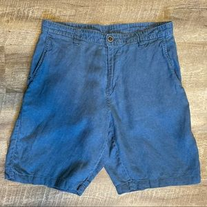 Tommy Bahama Linen Blend Blue Shorts Men's 33